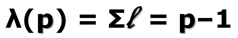 Lambda p = Sigma l = p-1